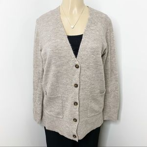 OLD NAVY Heathered Grey Button Down Cardigan Small